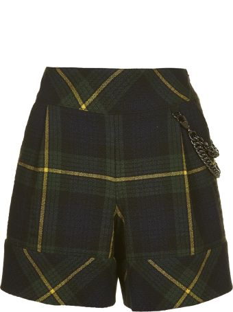 Moschino Tartan Patterned Shorts