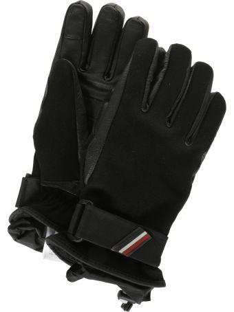 Moncler Logo Embroidered Gloves