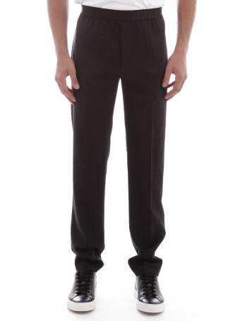 Helmut Lang Trousers Elastic Waistband Wool