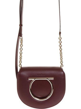 Salvatore Ferragamo Vela Hooked Bag In Leather
