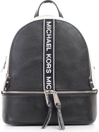 MICHAEL Michael Kors Rhea Zip Md Backpack Sh Rhodium