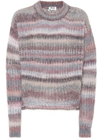 Acne Studios Striped Mohair-blend Oversized Sweater