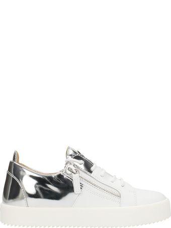 Giuseppe Zanotti White Leather Double Sneakers
