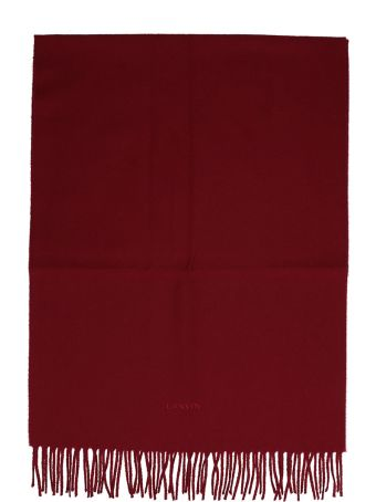 Lanvin Burgundy Wool Scarf