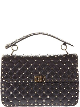 Valentino Garavani Spike Black Quilted Leather Bag