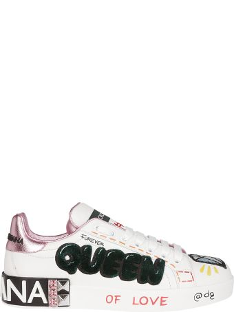 Dolce & Gabbana Queen Patch Applique Sneakers