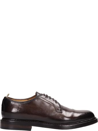 Officine Creative Brown Shiny Leather Lace-up Shoes