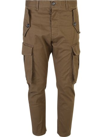 Dsquared2 Green Cargo Trousers