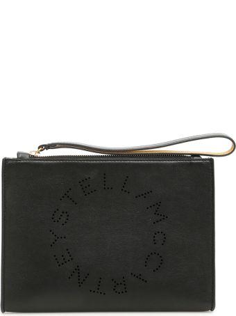 Stella McCartney Logo Flap Zip Clutch