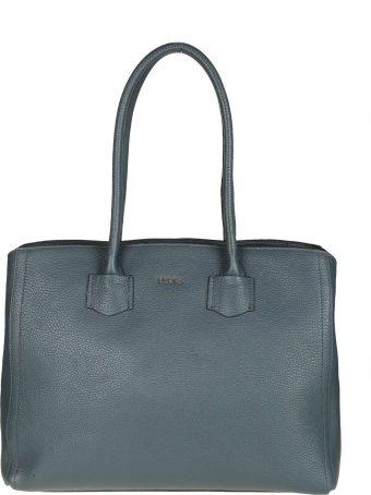 "Furla Shopping ""alba L"" In Blue Leather"