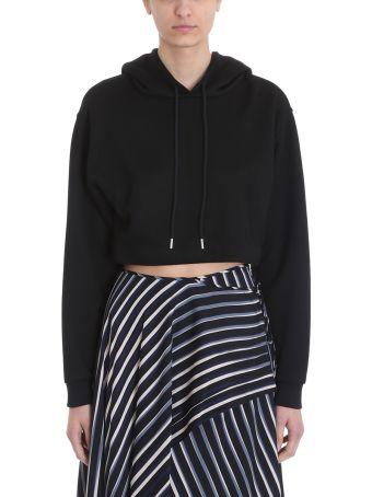 Diane Von Furstenberg Cropped Hoodie Sweatshirt