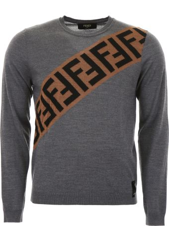 Fendi Pullover With Diagonal Logo