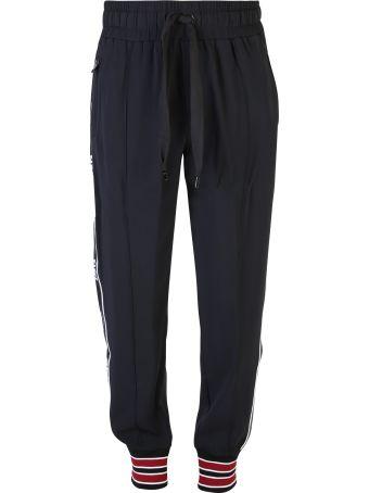 Dolce & Gabbana Black Branded Sweatpants