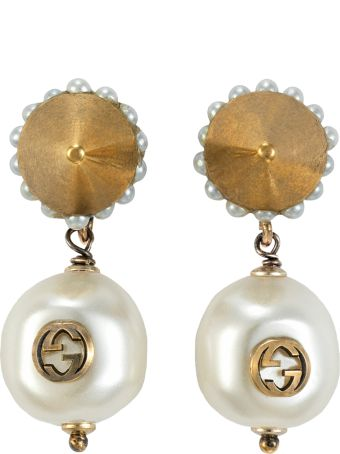 Gucci G Pearl Earrings