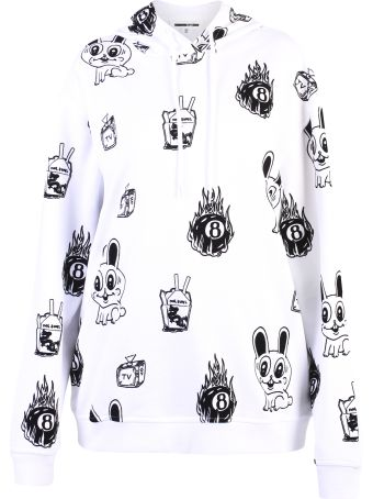 McQ Alexander McQueen White Printed Hoodie