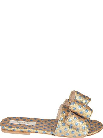 Polly Plume Lola Bow Flat Sandals