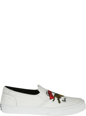 Kenzo Embroidered Logo Slip-on Sneakers