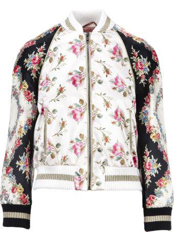 Gucci Rose Print Bomber Jacket