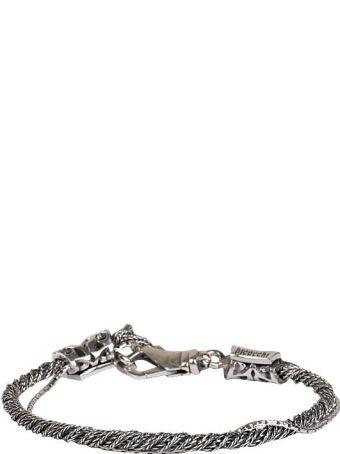 Emanuele Bicocchi Silver Twisted Multi Slim Bracelet