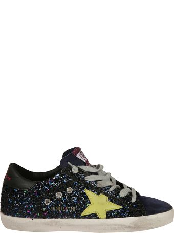Golden Goose Glitter Patchwork Sneakers
