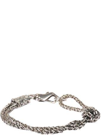 Emanuele Bicocchi Knot Silver Bracelet