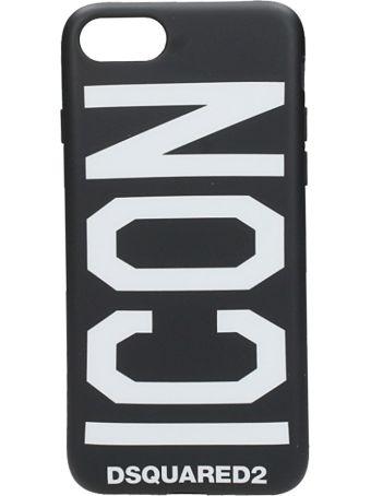 Dsquared2 Black Plastic Iphone Cover