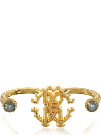 Roberto Cavalli Goldtone Metal Two Fingers Ring