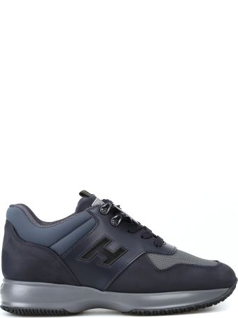 Hogan Interactive Blue Nubuck And Leather Sneakers