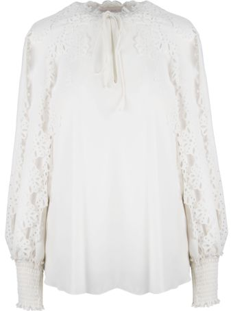 See by Chloé Laser Cut Trim Blouse