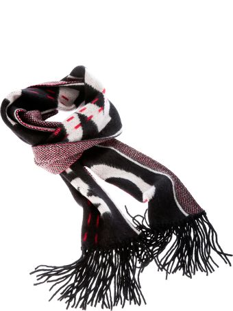 Off-White Contrast Logo Scarf