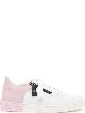Bicolor Calfskin Greek Sneakers