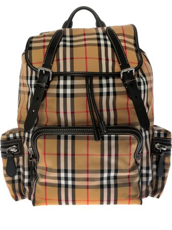 Burberry Checked Small Backpack