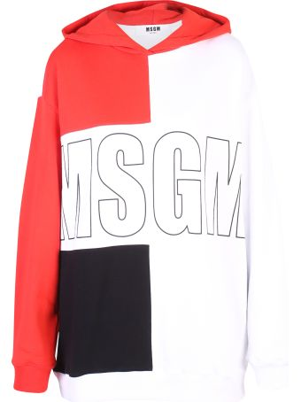 MSGM Multicolored Branded Hoodie