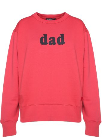 Acne Studios 'dad'-print Cotton-jersey Sweatshirt