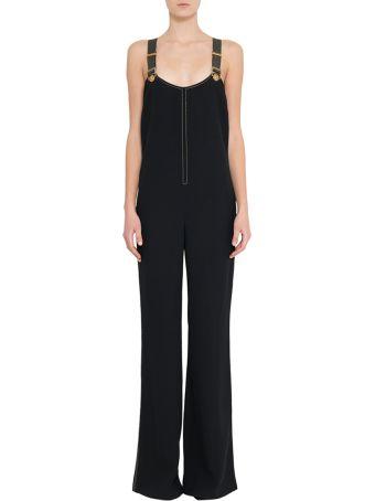 Versace Black Crepe Jumpsuit