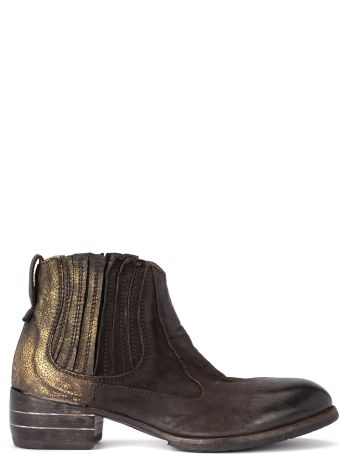 Moma Bandolero Dark Brown And Gold Texan Boots
