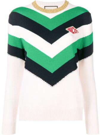 Gucci Color Block Knit Sweater