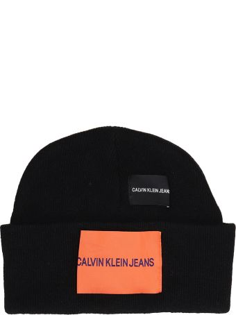 Calvin Klein Jeans Black Wool Hat