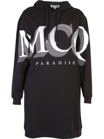 McQ Alexander McQueen Logo Print Cotton Dress