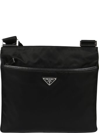 Prada Triangle Logo Patch Shoulder Bag