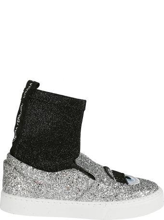 Chiara Ferragni Glittered Slip-on Sneakers