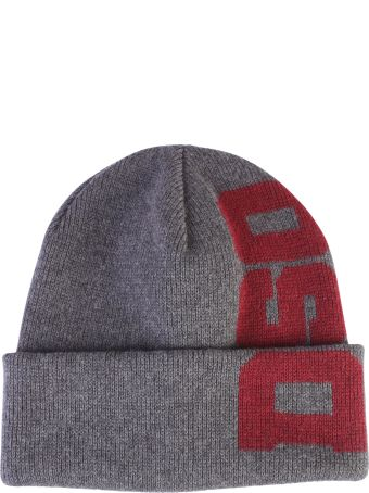 Dsquared2 Grey Branded Beanie