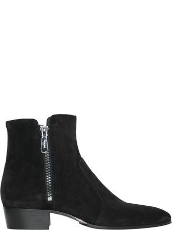 Balmain Black Suede Boots