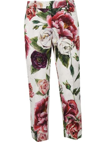 Dolce & Gabbana Rose Printed Trousers