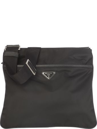 Prada Shoulder Strap With Zip And Logo