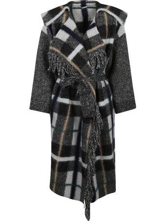 Stella McCartney Plaid Wrap Coat