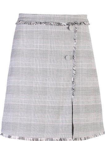MSGM Grey Fringed Skirt