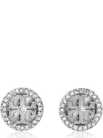 Tory Burch Crystal Logo Circle-stud Earrings