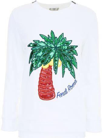 Tropical Embroidery Sweatshirt