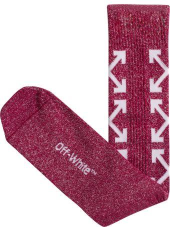 Off-White Diagonal Cotton Socks
